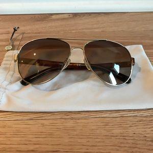 Tory Burch Aviator Style Sunglasses
